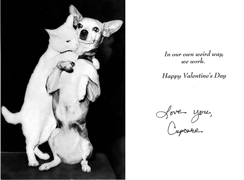 Valentine card from Mona sometime between 2000 and 2008.
